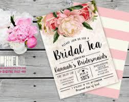 invitation for bridesmaid blush bridal shower invitation vintage peony and mauve