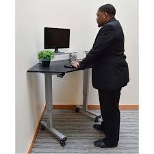 Adjustable Height Corner Desk Luxor Adjustable Height Stand Up Corner Desk Silver And Black