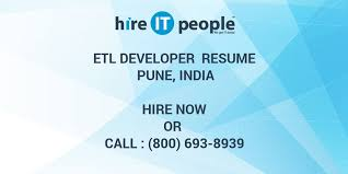 Etl Resume Etl Developer Resume Pune India Hire It People We Get It Done