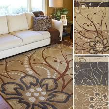 Living Room Area Rugs Hand Tufted Windy Floral Round Wool Area Rug 9 U00279x 9 U00279 Free