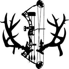 non typical mule deer rack antlers decal u0026 compund bow arrow