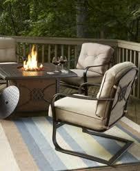 bellingham outdoor patio fire pit furniture macy u0027s