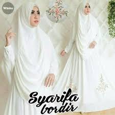 wedding dress syari jual dress muslim syari syafira white busana muslim gamis syari