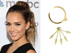 alba earrings 6 earring revealing hairstyles the bling to match