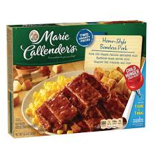 marie callender u0027s home style boneless pork riblet meal 14 4 ounce