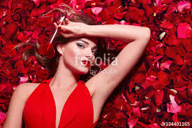 valentine u0027s day loving the in a red dress lying on the