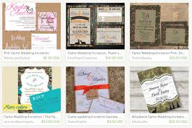 Camo Wedding Invitations Free Printable Camo Wedding Invitations