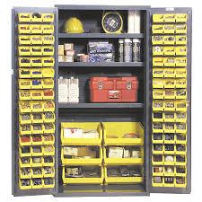 72 Storage Cabinet 36 X 72 Steel Industrial Storage Cabinet 102 Bins U0026 3 Shelves
