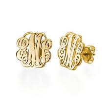 Monogrammed Earrings Monogram Earrings Monogram Jewelry Initial Obsession