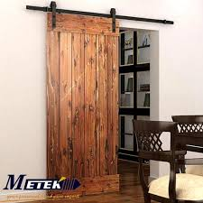 Barn Door Interior 4 9ft 6ft 6 6ft Carbon Steel Interior Wood Sliding Barn Door