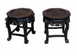 Coffee Table Stands Pair Antique Hardwood Oriental Coffee Table Stands S U0026 S Timms