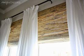 White Bamboo Curtains Well We Finally A Lot More Privacy At Our House Now