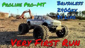 proline racing pro mt 2wd 1 10 monster truck kit run