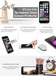 3d Lamps Amazon Amazon Com Iphone 6 Screen Protector Jetech Premium Tempered