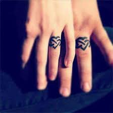 32 best heart couple finger tattoos images on pinterest feminine