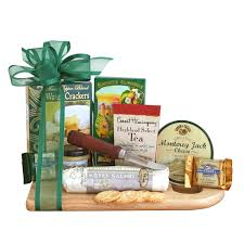 meat and cheese gift baskets sausage cheese and crackers deluxe gift assortment
