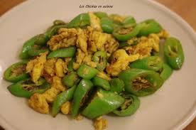 recette de cuisine avec des oeufs recette chinoise piment vert doux sauté avec des oeufs les