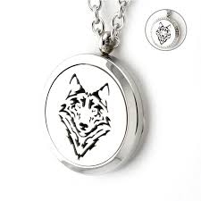 locket necklace aliexpress images Newest 316l stainless steel 30mm wolf perfume locket necklace jpg