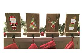 Stocking Stocking Holders Mantle Stockings Reclaimed Wood Set Of 4