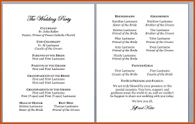 wedding programs exles wedding programs exles sop exle