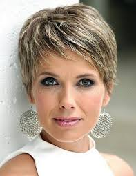 short hairstyles for older woman with fine thin hair pixie