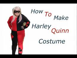 harley quinn jumpsuit diy how to harley quinn costume part 1 easy how to sew