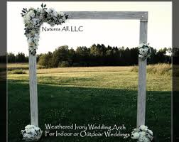 wedding arbor kits rustic wedding arbor etsy