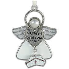 Nurse Christmas Ornament - amazon com nurse angel with a stethoscope scrubs resin stone