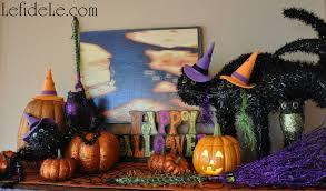 vintage halloween artwork diy glitter halloween party theme decorating ideas