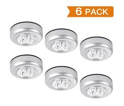 battery operated stick on lights elikeable lt 6 pack led battery operated wireless night light stick