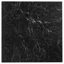 nexus black with white vein marble 12x12 self adhesive vinyl floor