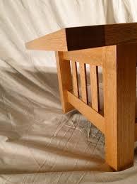 falling leaf woodworks portfolio quarter sawn red oak coffee table