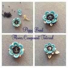 piggy bead flower bead tutorial youtube