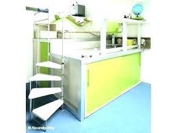 bureau superposé bureau avec rangement au dessus lit superpose bureau superposes lit