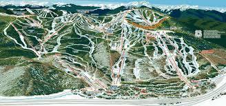 Colorado Ski Area Map by Vail Colorado Trail Maps