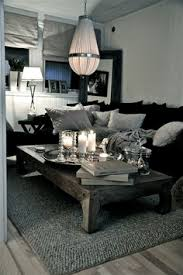 black livingroom furniture black and white living room interior design ideas sofa