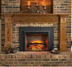 fireplace ideas with wood doors online home depot electric insert