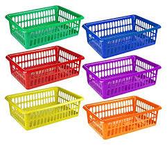organization bins amazon com 6 pack plastic colorful storage baskets paper office