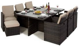 cube stowaway 6 10 seat dining set lakeside furniture direct