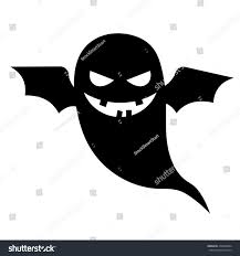 vector halloween scary ghost vector halloween silhouette character stock vector