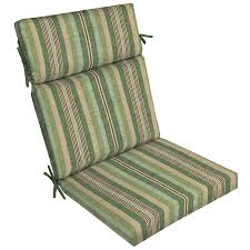 Lowes Wrought Iron Patio Furniture by Shop Allen Roth Multi Eucalyptus Stripe High Back Patio Chair