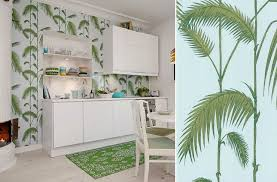 papier peint cuisine lessivable un air de printemps souffle dans la cuisine au fil des