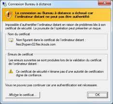 connexion bureau à distance impossible support ikoula helpdesk
