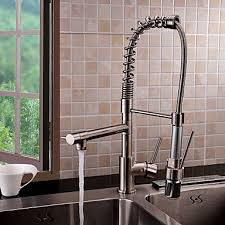 led kitchen faucets contemporary single handle led pull out kitchen faucet