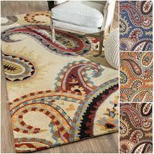 Paisley Area Rug Impressive Brilliant Paisley Area Rug Roselawnlutheran For
