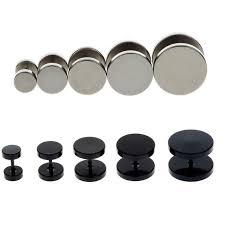 flat back earrings fashion dumbbells shaped flatback sided earrings for