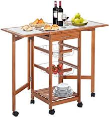 drop leaf kitchen island cart best choice products portable folding tile top drop