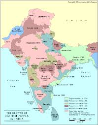 Punjab India Map by Green And Blue Areas Were Under British Control When Robert