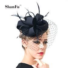 hair fascinator aliexpress buy shanfu women fancy feather fascinator hats