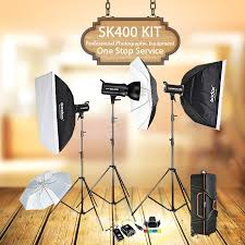 studio lighting equipment for portrait photography godox sk400 3 x 400w compact photo studio flash lighting set digital